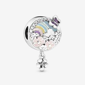 ❤️Pandora rainbow and flower dangle